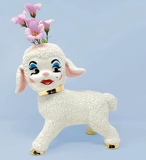 Mary's C#nty Little Lamb Bud Vase