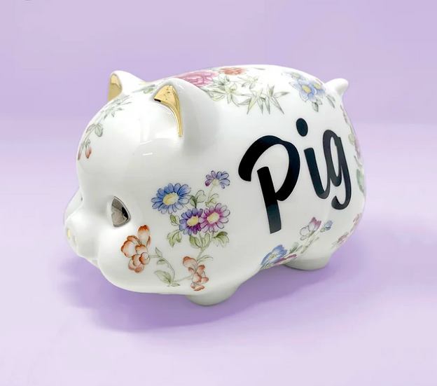 Pig Bank (w/22kt Gold)