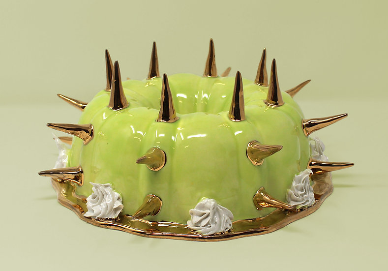 Hardcore Pound Cake with 22kt Gold Green