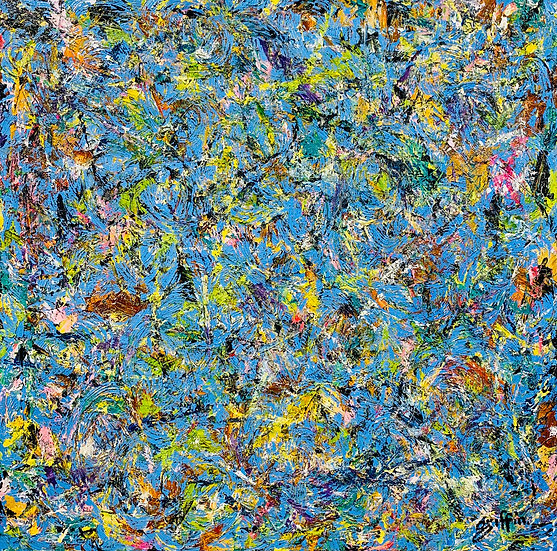 Untitled 29 (Multicolor Blue Ground)