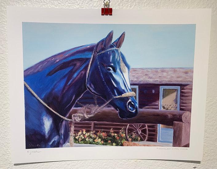 Fiberglass Hotel Horse (Print)