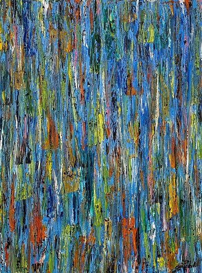 Untitled 31 (Blue Verticals)