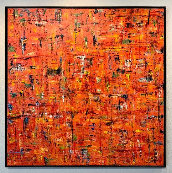 Untitled 21 (Multicolor Orange Ground)
