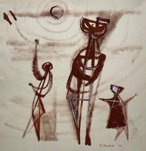 3 Figures & Sun, 1947