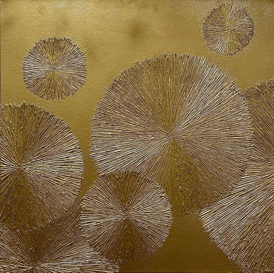 Gold #4 Chrysanthemum Series