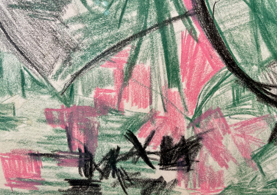 Drexler: Untitled (Green and Pink) Detail