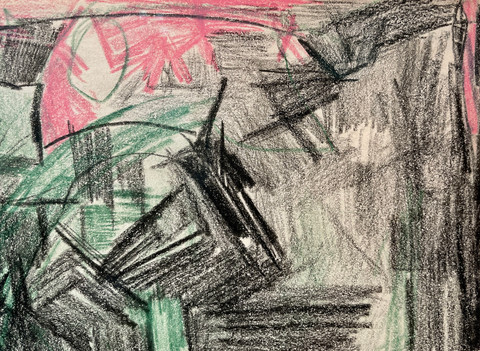 Untitled (Green and Pink) Drexler Detail