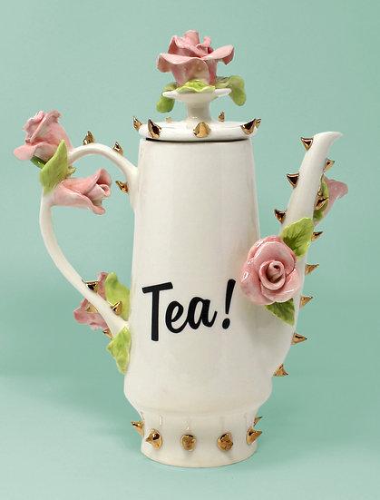 Tea! Pot with 22kt Gold