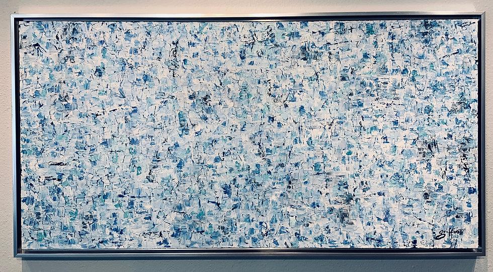 Untitled 32 (Blue & White) Horizontal