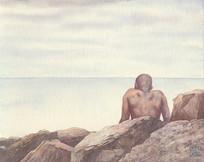 Ocean Boy on Rocks V