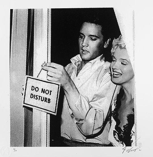 Love Hard (Elvis/Marilyn) (Black) Edition of 10 Un-Framed