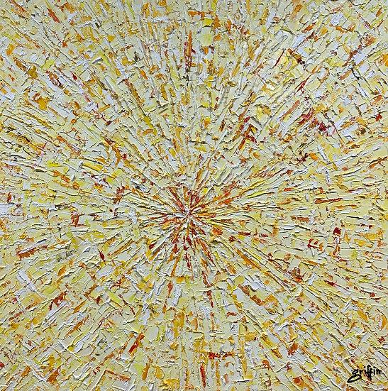 Untitled 38 (White and Orange Burst)