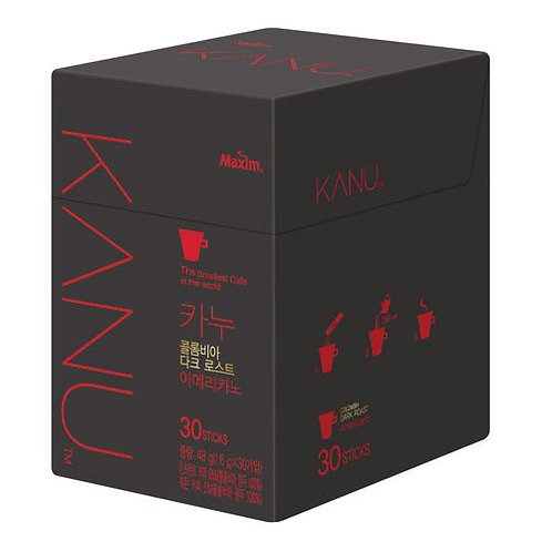 Kanu Coffee Dark Mini 30 sticks /동서 카누 다크 미니