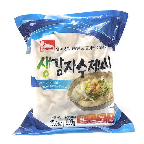 생감자수제비/ Fresh noodle potato sujebi