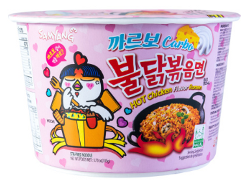 Hot Chicken Noodle Carbo Big Bowl - 까르보불닭큰컵
