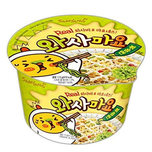 Hot Chicken Noodle with wasamayo flavor (wasabi+mayo) / 불닭 와사마요