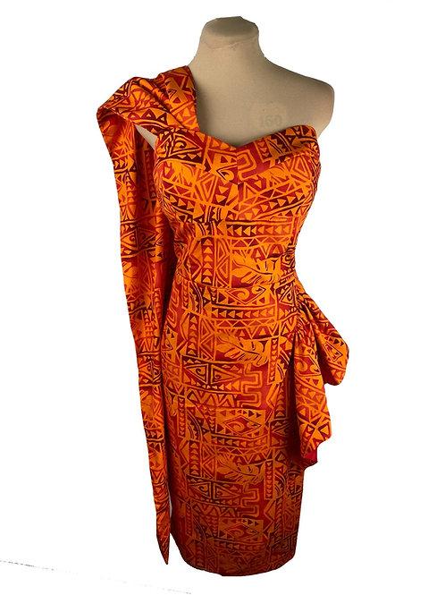 Hawaiian Saron Dress - 1950s Style Sarong - Kathryn Dress TH-200