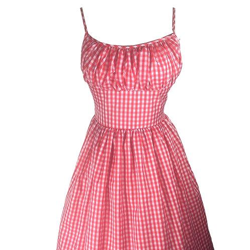 Red Gingham Marilyn Dress
