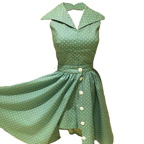 3 Piece Florida Beach Play Suit - 1950's style-Hawaiian - Wing Collar