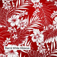 Red & White Hibiscus