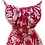 Thumbnail: Box Pleated Sundress - Red & White Hibiscus - 1950s Style