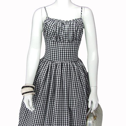 Black Gingham Marilyn Dress