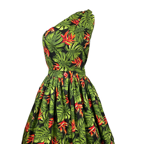 Lolani one shoulder 1950s  Style 3 Piece Play Suit