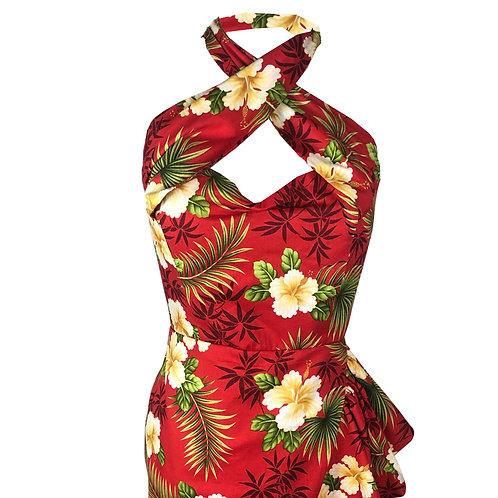 Amalia Hawaiian Sarong Dress