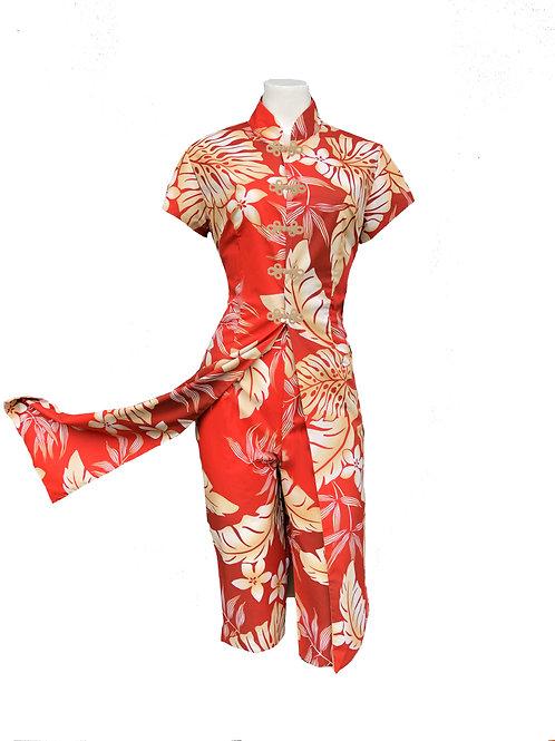 Tea Timer Dress With Matching Capri Pants - 1950s Style