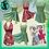 Thumbnail: 3 Piece Florida Beach Play Suit - 1950's style-Hawaiian - Wing Collar