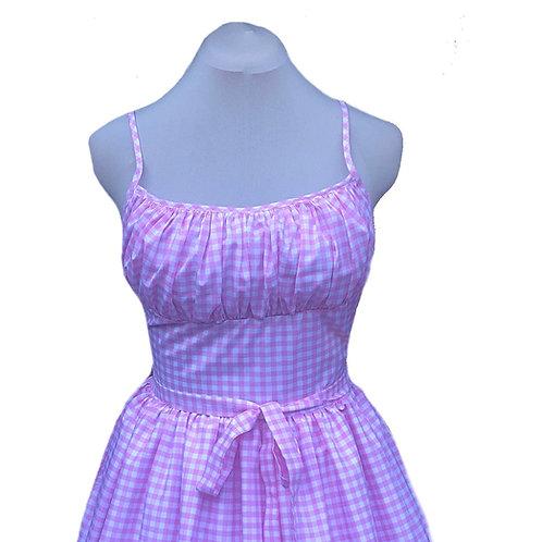 Pink Gingham Marilyn Dress