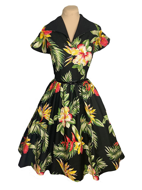 Full Circle Dress - 1950s Style - Day Dress with Pockets - Style TH-201