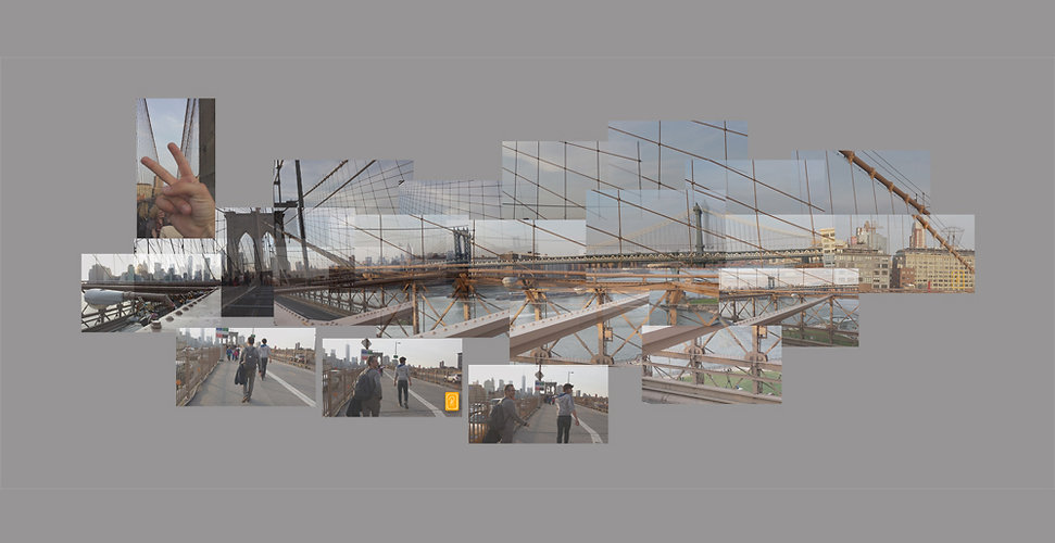 Walkink on the Brooklyn Bridge - Anna Po