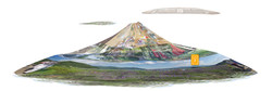 Mont Fuji - Tableau chromaluxe Anna Poulin