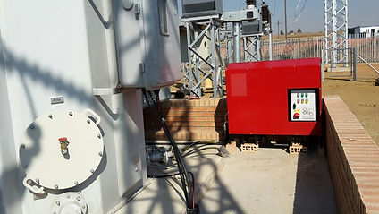 Chainings Insulating Oil Filtration Unit on a south African transformer