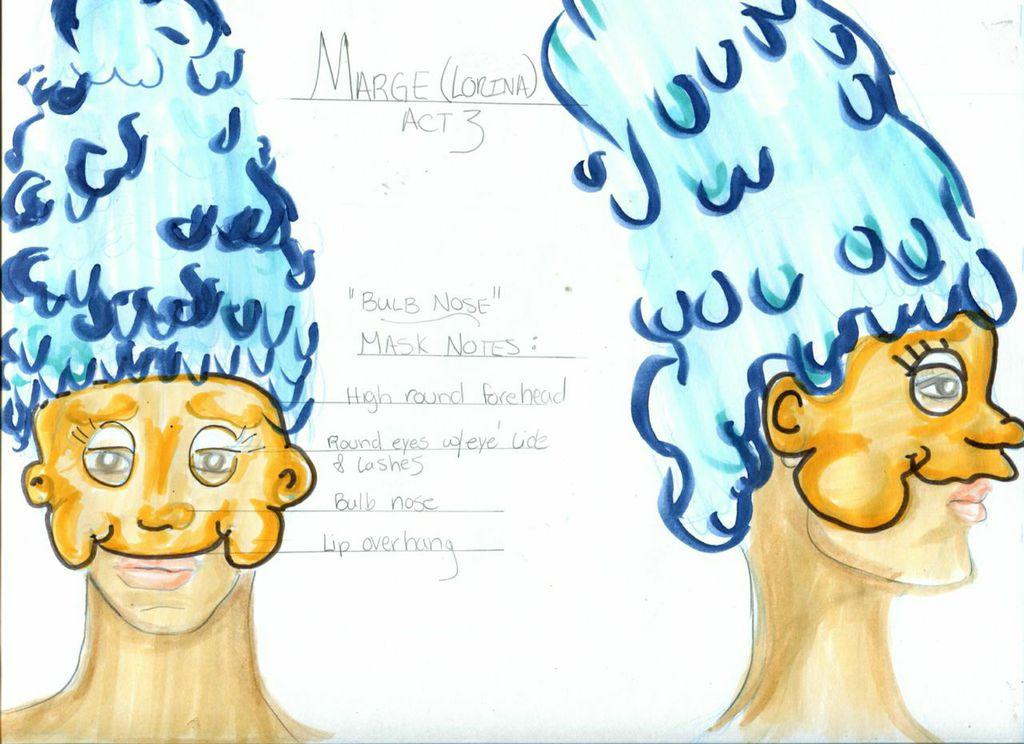 Marge Mask & Hat Rendering