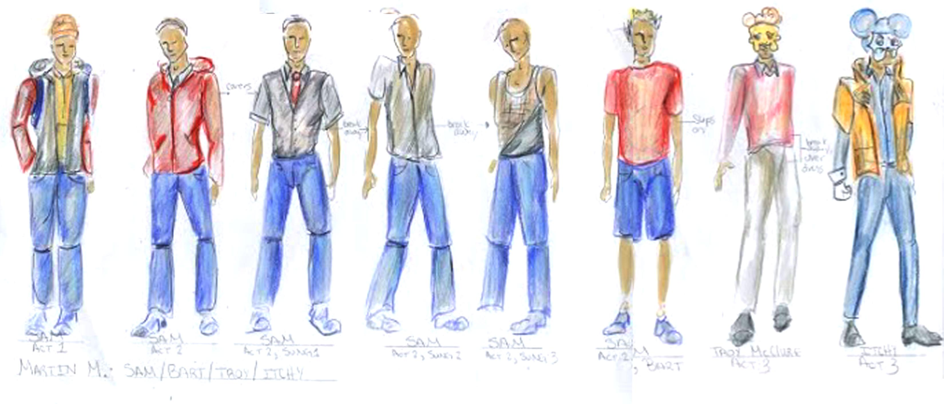 Character Sam Costume Track