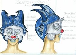 Scratchy Mask & Hat Rendering