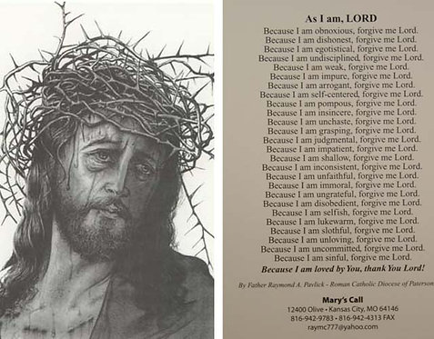"""Crown Of Thorns / As I Am Lord 4"""" x 6"""""""
