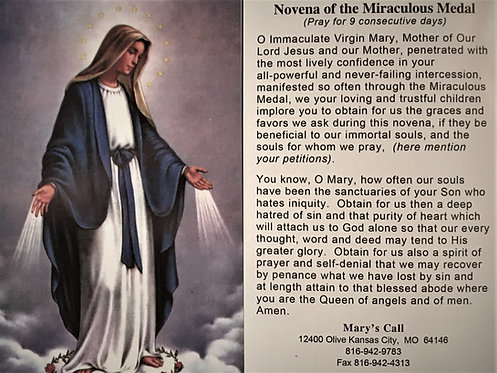 "Novena of the Miraculous Medal 4"" x 6"""
