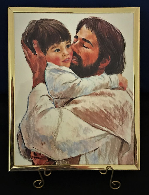 "Jesus with Child 8"" x 10"" Wall Plaque"