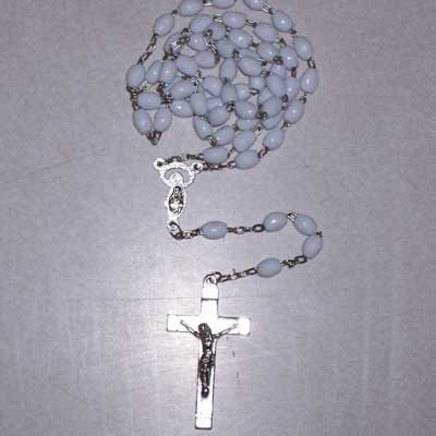 Rosary - Chain, White
