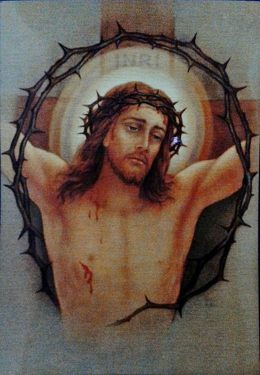 "Jesus on the Cross 9 3/4"" x 13 1/2"""