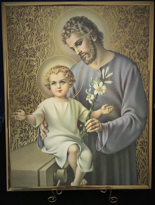 "St. Joseph 11"" x 14"" Wall Plaque"
