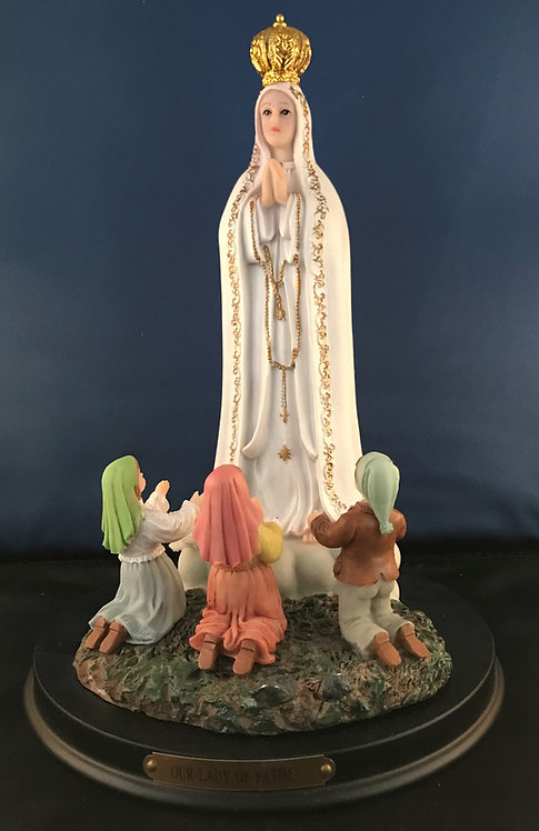 Our Lady of Fatima with children 11""