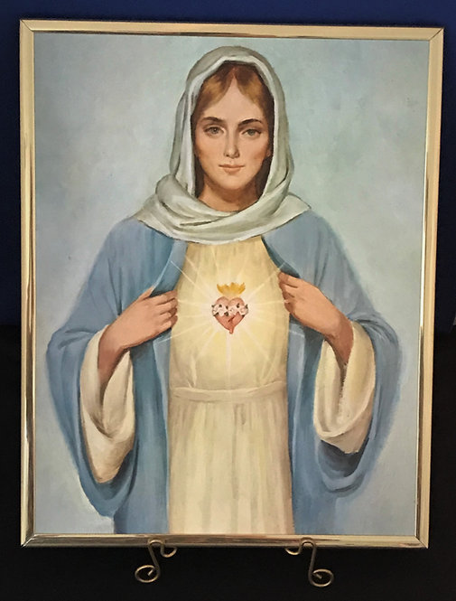 "Immaculate Heart of Mary 11"" x 14"" Wall Plaque"