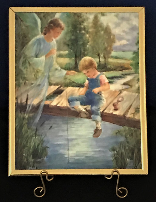 "Guardian Angel with Boy 8"" x 10"" Wall Plaque"
