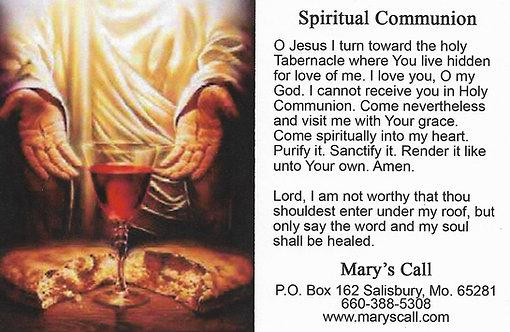 "Spiritual Communion 3"" x 4"""