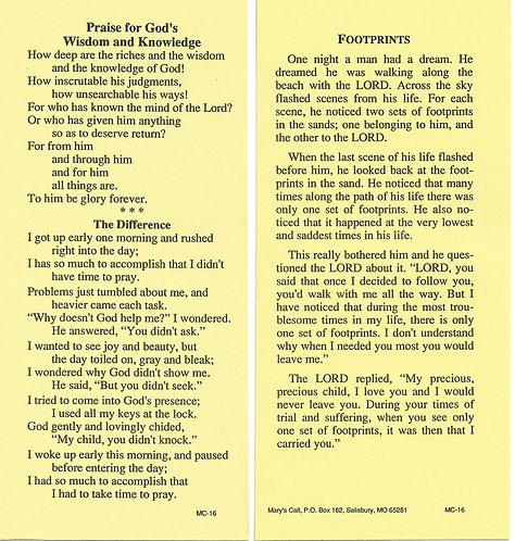 Devotional Prayer Card Bundle