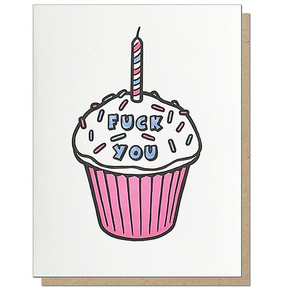 FU Cupcake Birthday Card
